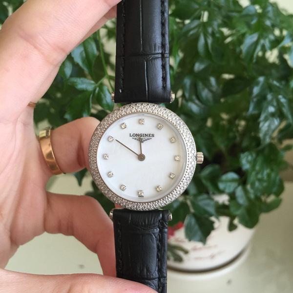 Đồng hồ nữ dây da Longines Quartz L4.635.8