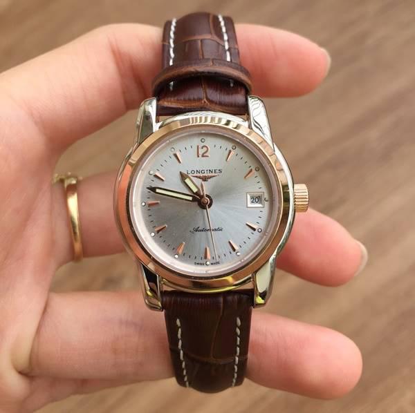 Đồng hồ nữ dây da Longines Automatic L2.563.8.79.3