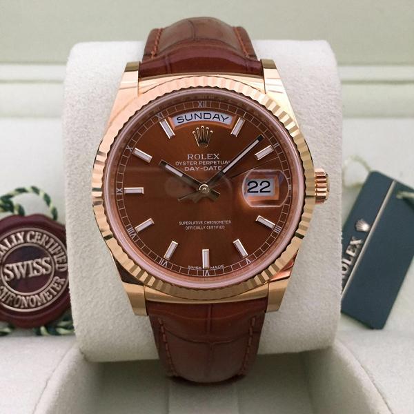 Đồng hồ nam dây da cao cấp Rolex 118138
