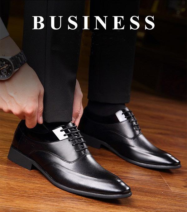Giày nam da thật cao cấp Laorentou LR02