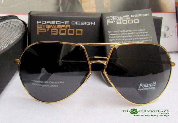 Kính mắt nam thời trang Porsches P8510 Gold Black
