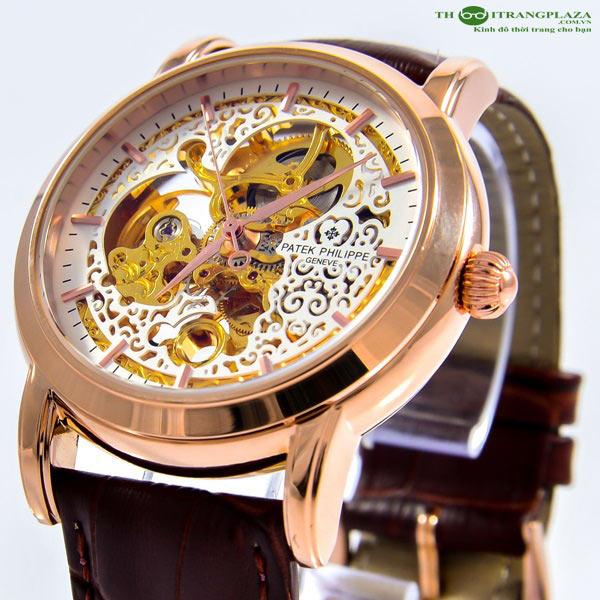 Đồng hồ nam cao cấp Patek Philippe White Gold PT01