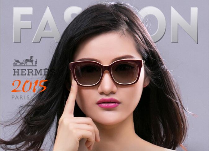 Kính mắt nữ thời trang cao cấp  Hermes HM01