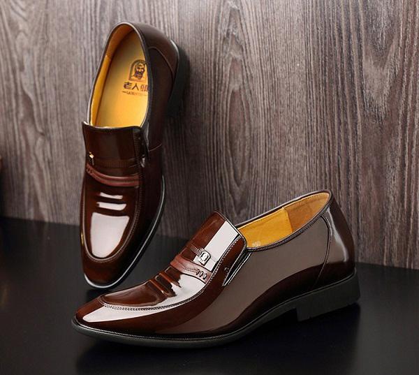 Giày nam da thật cao cấp Laorentou LR01